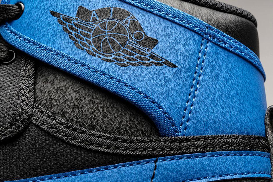 AIR JORDAN 1 RETRO KO HIGH OG 'SPORT BLUE' Close Up Logo