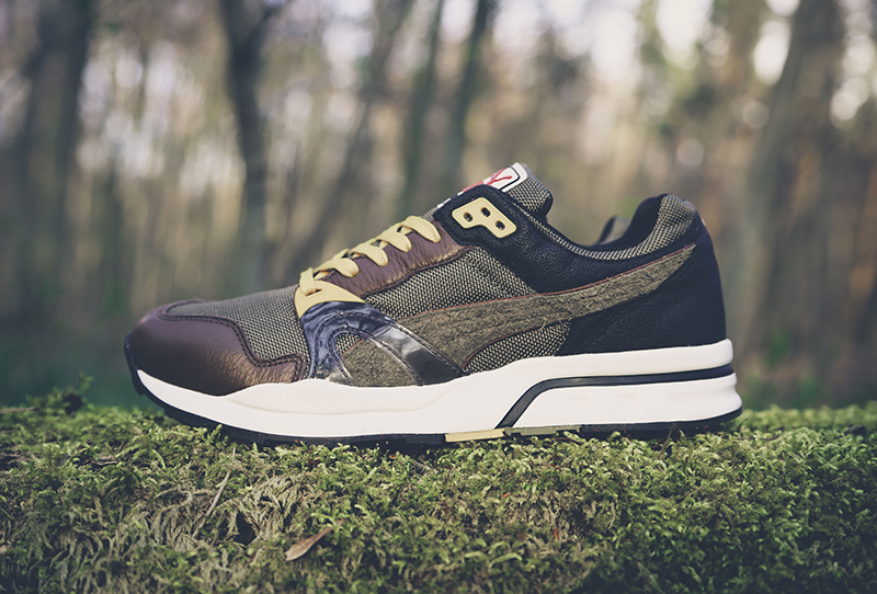 Puma Trinomic XT1 Plus Winter Pack olivgrüner Colorway von der Seite