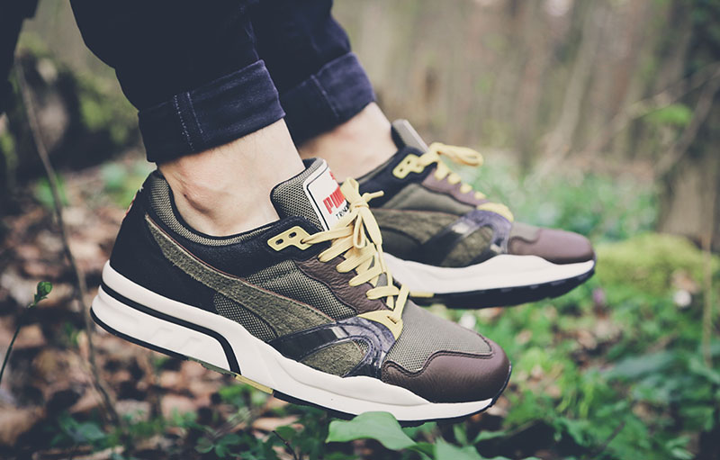Puma Trinomic XT1 Plus Winter Pack olivgrüner Colorway im Wald