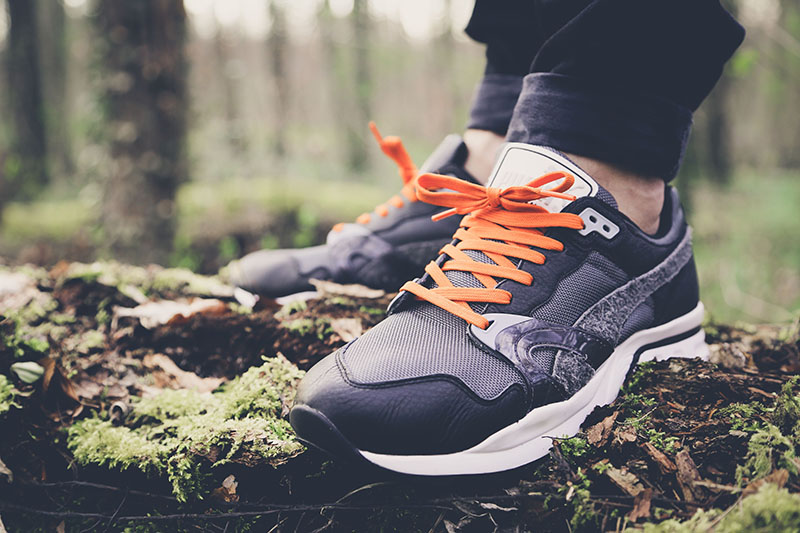Puma Trinomic XT1 Plus Winter Pack dunkelgrau Colorway mit orangenen Laces