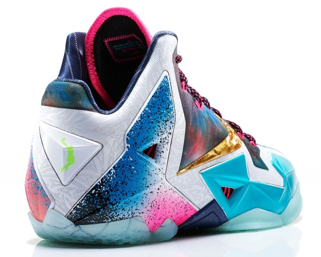 Nike LeBron 11 'What The' Edition von Hinten