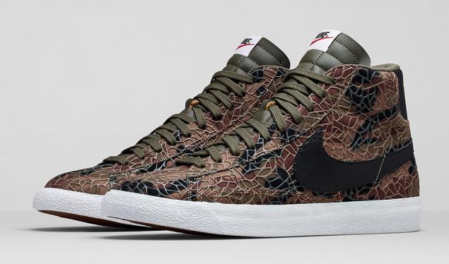 Nike Blazer Safari Colleciton Camouflage von der Seite