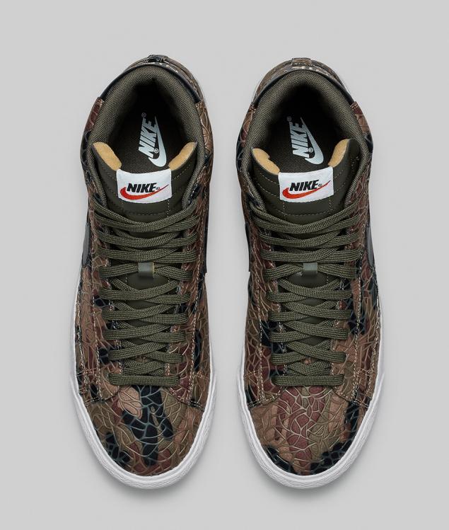 Nike Blazer Safari Colleciton camouflage von oben