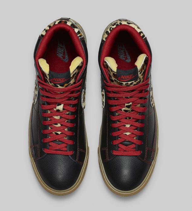 Nike Blazer Safari Colleciton Leopard von oben