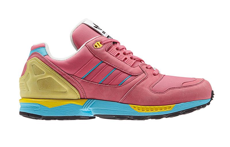 adidas zx8000 fall of the wall sneaker pack pink von der seite